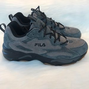 Fila Ray Tracer Mens Corduroy Casual Shoes